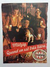PUBLICITE ANNEES 80 BIERE MUTZIG