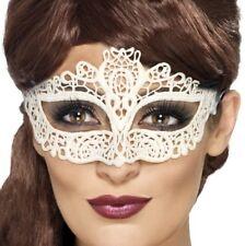 Filigree Lace Masquerade Ball Fancy Dress Eye Mask Party Prom Mask White Smiffys