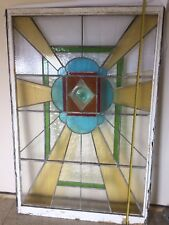 Reclaimed Large Lead Lined Stained Large Glass Window