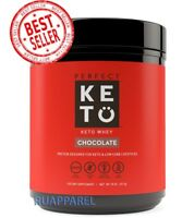 Perfect KETO Chocolate Whey Protein Powder Isolate W/ MCT Powder 100% Grass 18oz