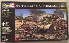 Revell 1:72 M4 Firefly & Australian Infantry Plastic Model Kit #03160