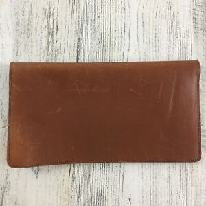 Holick's Aggie Boot Leather Vtg Checkbook Holder Cover Brown Leather