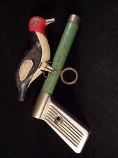Ancien jouet tôle mécanique oiseau pivert The WHOOPEE BIRD 1940