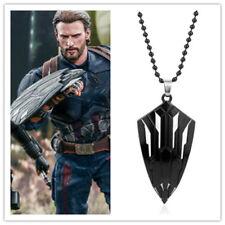 US! Avengers: Infinity War Captain America Wakandan Shield Necklace Cosplay Prop