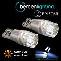 2X W5W T10 501 CANBUS ERROR FREE WHITE LED HI-LEVEL BRAKE LIGHT BULBS HBL101201