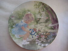 "SEEMS LIKE YESTERDAY ""STOP & SMELL THE ROSES"" PLATE SIGNED BY RUSTY MONEY, 8 1/2"