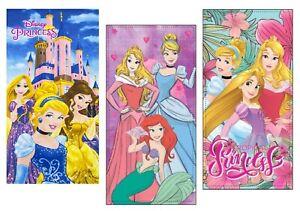 Official Disney Princess Girls Beach Towel Highly Absorbent 70 x 140 cm
