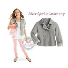 American Girl CL CAROLINE SILVER SPARKLE JACKET SIZE 6 XS for Girl Sweater NEW
