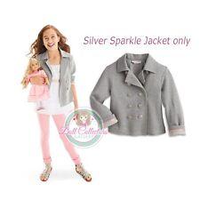American Girl Caroline Silver Sparkle Jacket for Girls Size XS 6