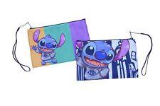 Stitch Clutch Cosmetic Bag Travel Handbag Wristlet Makeup For Her Blue Alien