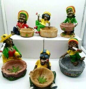 1 X Rasta Man Jamaican  Ashtray Ash Bob Marley Random Design