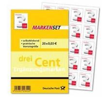 MARKENSET 20 x 0,03 € EURO/CENT Selbstklebend Ergänzungsmarken Briefmarken NEU