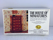 House of Miniatures Doll Furniture Xacto 1:12 Chippendale Chest # 40009 Kit