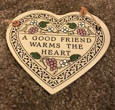 Home Decor Trinity Pottery Wall Tile Plaque Hanging Heart
