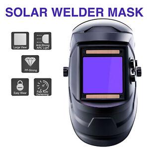 Auto Darkening Welding Helmet Large View Area Pro Solar Welder Mask Li Battery .