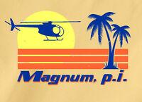 MAGNUM, P.I. T-Shirt fun 80s TV show Tom Selleck Ferrari Hawaii Beach pi