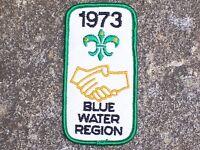 BSA Boy Scout Blue Water Region 1973 Patch Boy Scout Patch Vintage
