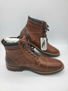 Sonoma Goods for Life™ Graham Men's Cognac Ankle Boots Brown Size 12 NEW