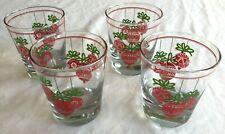 New listing Hanging Ornament Scene Old Fashion Christmas Drinking Beverage Glasses Set Of 4
