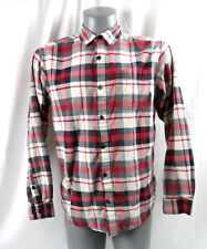 Columbia Red Long Sleeve Plaid Button Front Shirt SIZE MENS MEDIUM