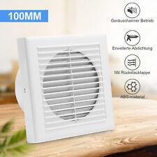 Badlüfter ventilator Abluftventilator WC Wandlüfter 100mm Mit Rückflussleitblech