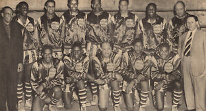 1950 HARLEM GLOBETROTTERS 8X10 TEAM PHOTO BASKETBALL PICTURE WIDE BORDER