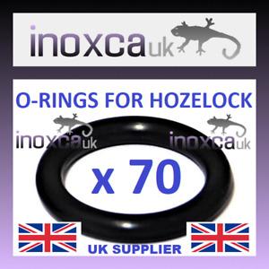 70 PCS O RING FOR HOZELOCK MALE HOSE FITTINGS HOSE PIPE  BLACK RUBBER RINGS