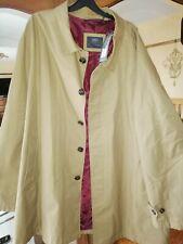 New M&S Mens Camel Rain Coat 4XL Classic 3/4 Length Waterproof Mac rrp £79 BNWT