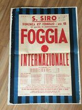 RARISSIMA LOCANDINA STADIO CALCIO INTER - FOGGIA SAN SIRO CAMPIONATO 1966/67
