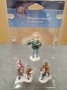 Carole Town Lemax Village Neighborhood Carolers - Set of 3 Figurines / 109755