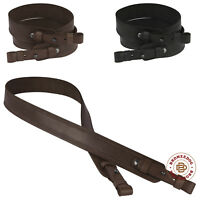 Rifle Shotgun Gun Sling Strap Leather Shooting Tactical Embossed Hunting