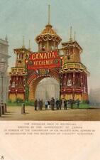 Canadian Arch Whitehall London 1902 Coronation embossed unused  pc Tuck 922