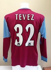 West Ham Football Shirt Jersey TEVEZ 32 Long Sleeves LS Large L Home 2006/07
