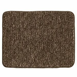 """mDesign Soft Microfiber Small Accent Rug Mat, 21"""" x 17"""" - Heather Brown"""