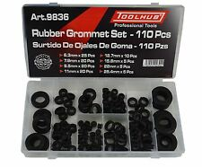 Tool Hub 9836 Grommet Set Rubber Blanking open/closed blind assorted sizes 110pc
