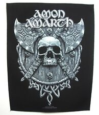 AMON AMARTH ( skull & axes ) OFFICIAL BACK PATCH