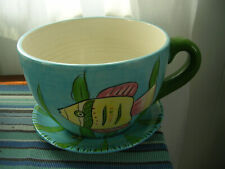 Pickup Only Cinti Oh Lrg Tropical Oversized Tea Cup & Saucer Planter flower pot