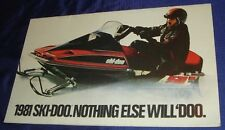 BS132 Vtg Ski-Doo Snowmobile Dealer Sales Brochure 1981