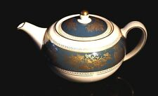 Beautiful Wedgwood Columbia Blue And Gold Large Teapot