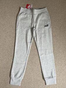 Womens Puma Essentials Sweat Pants Light Grey Size 10