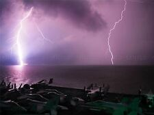 CULTURAL LANDSCAPE ELECTRIC STORM LIGHTNING SHIP POSTER ART PRINT PICTURE BB761A