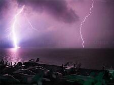 CULTURAL LANDSCAPE ELECTRIC STORM LIGHTNING SHIP POSTER ART PRINT PICTURE BB761A