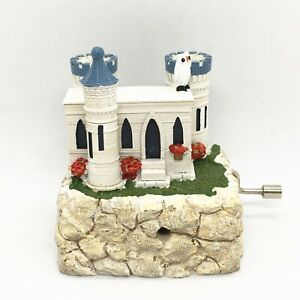 Music Box Castle Owl Decorate Gift For Teens Women Girls Holiday Hand Crank New