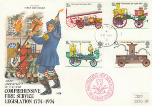 (88134) GB Philart FDC Fire Service FPO Field P.O. Allied Forces 1974 67 of 200