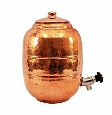 Hammered 5 LITER 100% PURE COPPER- WATER- DISPENSER STORAGE -MATKA POT- TANK TAP