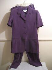 CHAUS petite silk pant suit, womens size 8 excellent condition