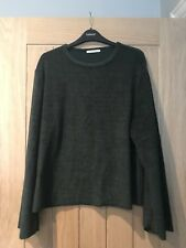 e61baaa63e91b Zara Trafaluc Dark Green Velvet Top Size Medium NEW