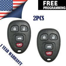 2PCS New Replacement 4 Button Keyless Remote Key Fob for GM Aura Malibu 22733523