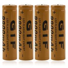 4PCs 3.7V 9900mAh Batería iones litio recargable 18650 + Cargador para linterna