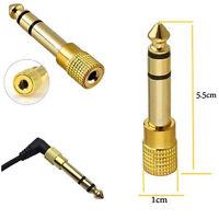 4pc 1/8 3.5mm Female to 6.5mm 1/4 Male Headphone Jack Adapter Plug Audio NEW GG